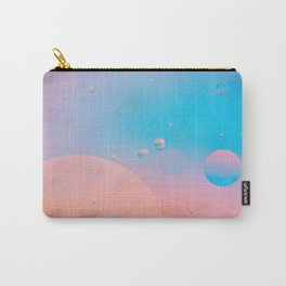 Defocused pastel colored abstract background picture made with oil, water and soap Carry-All Pouch