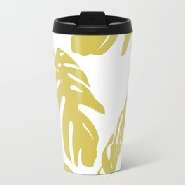 Simply Mod Yellow Palm Leaves Travel Mug