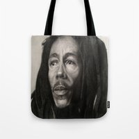 marley Tote Bags featuring Marley Drawing by Wega13Art