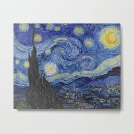 The Starry Night by Vincent van Gogh Metal Print