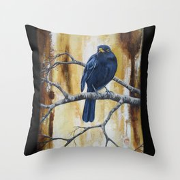 Blacky 2 Throw Pillow