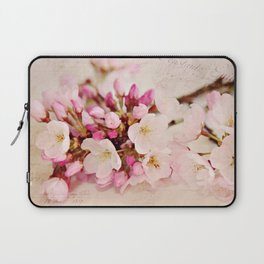 cherry blossoms with typography Laptop Sleeve