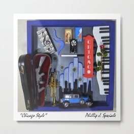 """Chicago Style"" Metal Print"