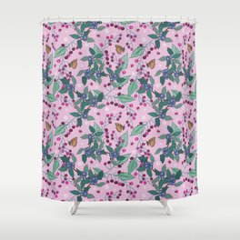 Cherries and Sloes pattern Shower Curtain