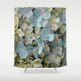 White Spring Hydrangeas Macro Flower Photography, Shabby Chic Spring Flower Decor, Bedroom Decor, Gi Shower Curtain