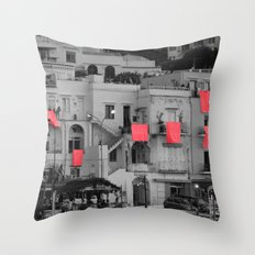 red sheets Throw Pillow