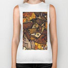 "Egon Schiele ""Krumau - Crescent of Houses (The small City V)"" Biker Tank"