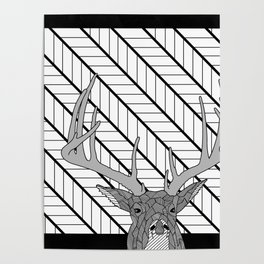 White Tail Buck... Oh Deer Poster