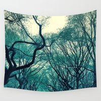 central park Wall Tapestries featuring Central Park Trees by Jason Simms