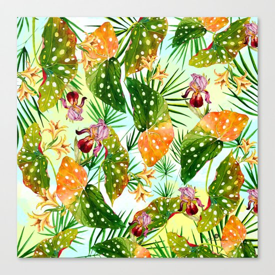 Tropical exotic pattern Canvas Print