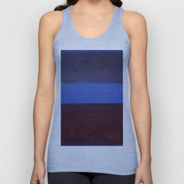 No.61 Rust and Blue 1953 by Mark Rothko Unisex Tank Top