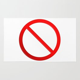 Not Allowed Sign Blank Rug
