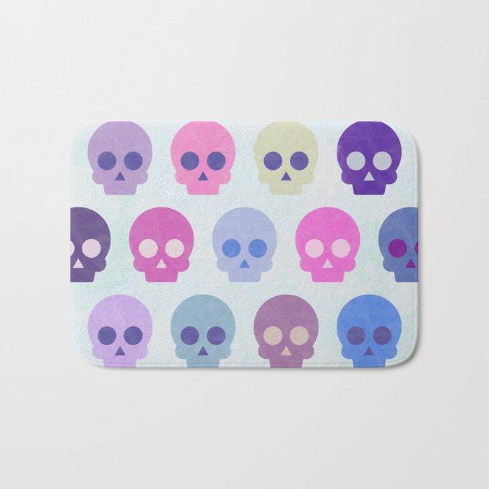 Colorful Skull Cute Pattern III Bath Mat