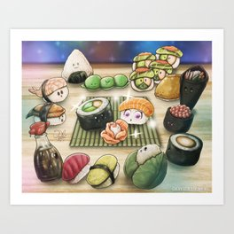 Sushi Rose Art Print