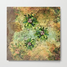 Green Flowers of the Grandmother Garden! Metal Print