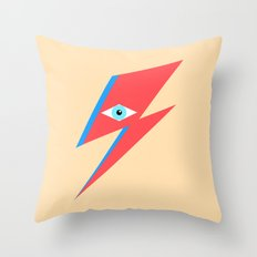 David Bowie  |  Ziggy Stardust  |  Minimalism Throw Pillow