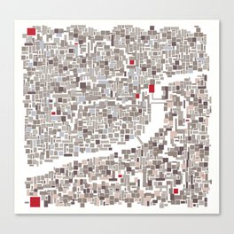 mapping home Canvas Print