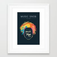 paramore Framed Art Prints featuring Music to DYE for — Music Snob Tip #075 by Elizabeth Owens