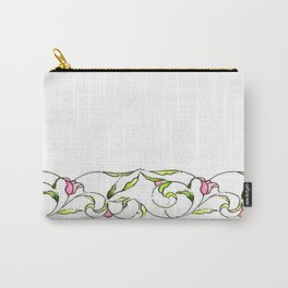 Tulips watercolor (white) Carry-All Pouch