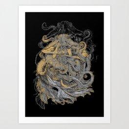 Octolady Art Print