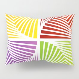 Colorful Squares twirling from the Center. Optical Illusion of PerspectiveColorful Squares twirling Pillow Sham
