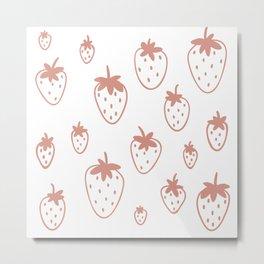 Strawberry Fields Pattern Metal Print