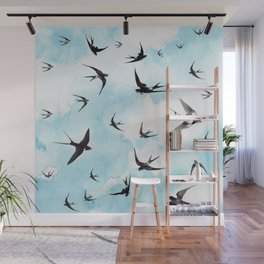 Swallows Wall Mural