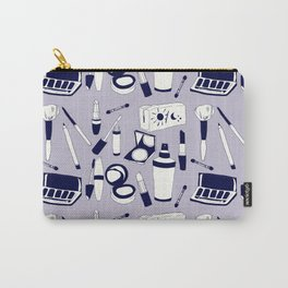 Purple Make-up Pattern Carry-All Pouch