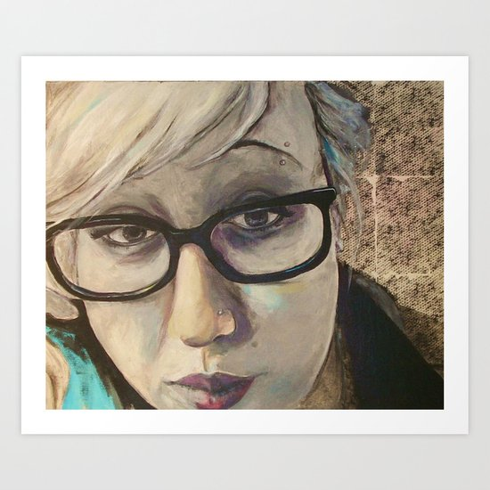 Smart Girl At The Party Art Print