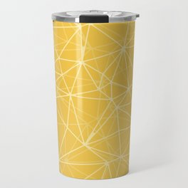 Mosaic Triangles Repeat Seamless Pattern gold Travel Mug