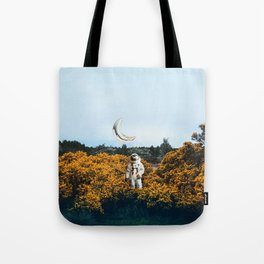 for you, flowers and the moon. Tote Bag
