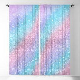 Rainbow Princess Glitter #2 #shiny #decor #art #society6 Sheer Curtain