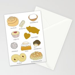 Swedish Cookies (fika) Stationery Cards