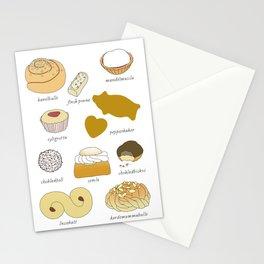 Swedish Cookies (fika) Stationery Cards