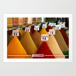 Moroccan Spices, Essential Spices in Moroccan Cooking Art Print
