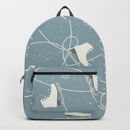 Ice-Skates & Snowflakes Winter Pattern Backpack