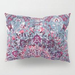 Vintage Boho Burgundy Mandala Pillow Sham