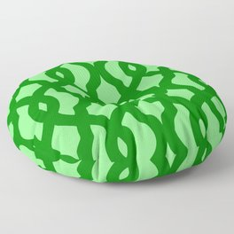 Grille No. 2 -- Lime Floor Pillow