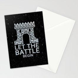 LET THE BATTLE BEGIN Stationery Cards