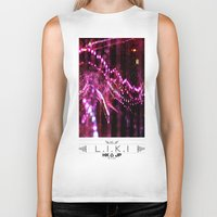 chandelier Biker Tanks featuring chandelier by riz lau