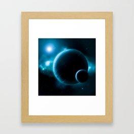 Deep Space Blue Framed Art Print