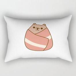 Pupsheen Wrapped in Bacon Rectangular Pillow
