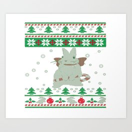 Bunny Christmas Art Print