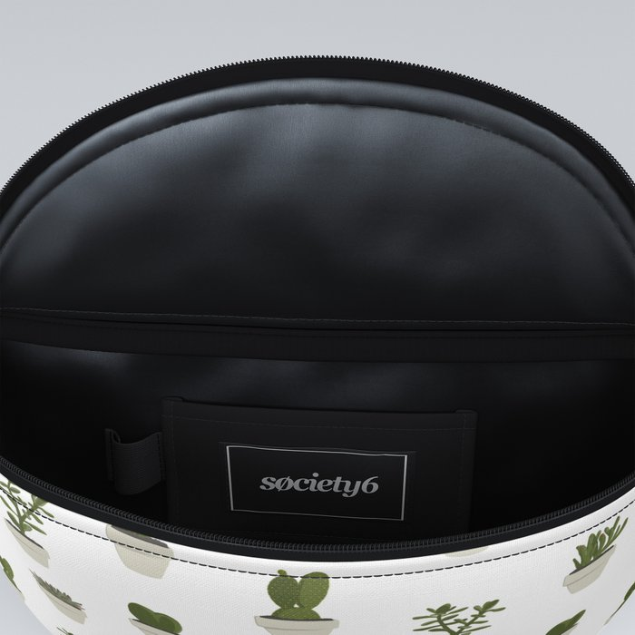 Cacti & Succulents - White Fanny Pack