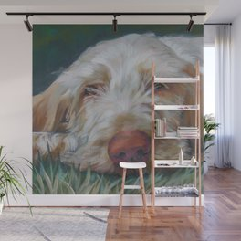 Spinone Italiano dog art portrait from an original painting by L.A.Shepard Wall Mural