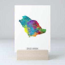 Saudi Arabia Watercolor Map Mini Art Print