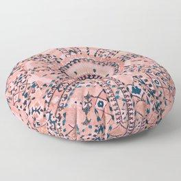 Light Pink Wildflower Sunshine I // 18th Century Colorful Pinkish Dusty Blue Gray Positive Pattern Floor Pillow