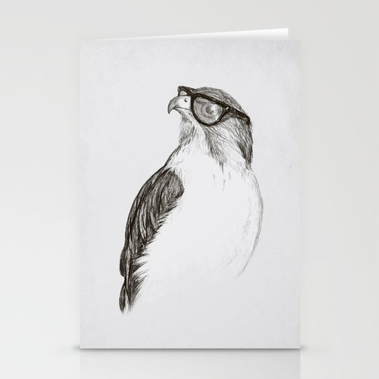 Hawk with Poor Eyesight Stationery Cards