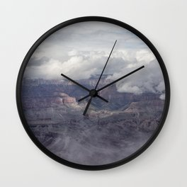 Canyon in Clouds Wall Clock