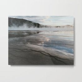 Sunset Grand Prismatic Spring, Yellowstone National Park, Wyoming Metal Print